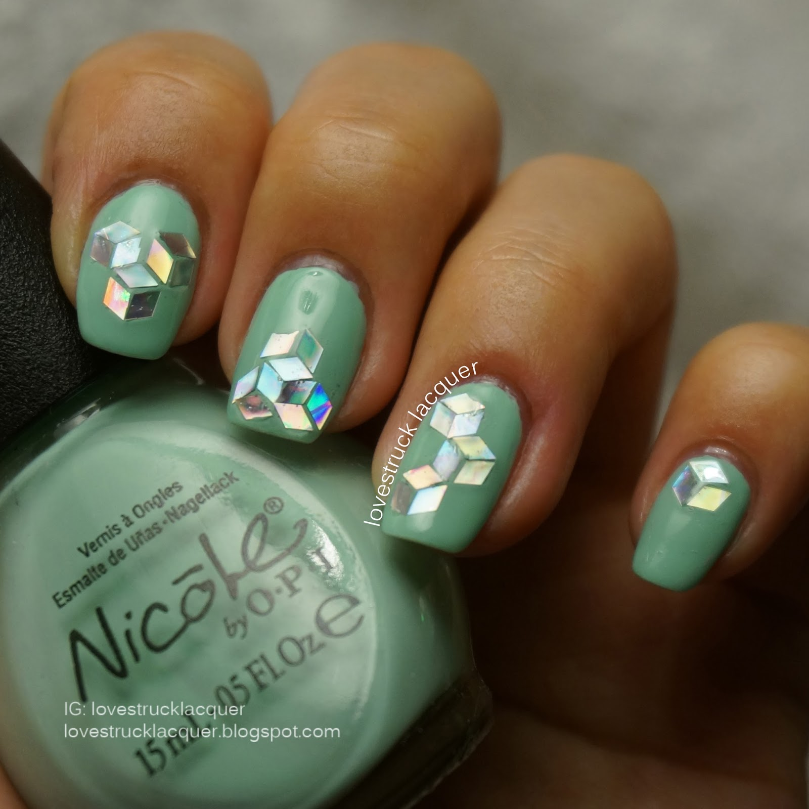 Lovestruck Lacquer: Glitter Placement Tessellation + review of Born ...