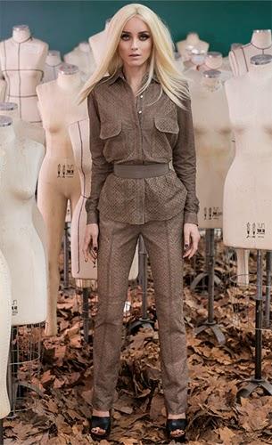 Patrícia Viera roupas de couro coleção inverno camisa cinto e calça