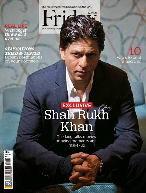 Shah Rukh Khan on the cover of #FRIDAY magazine !!