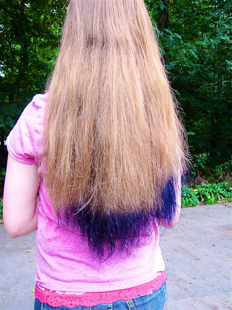 So today i dyed my friend s hair purple it turned out pretty awesome