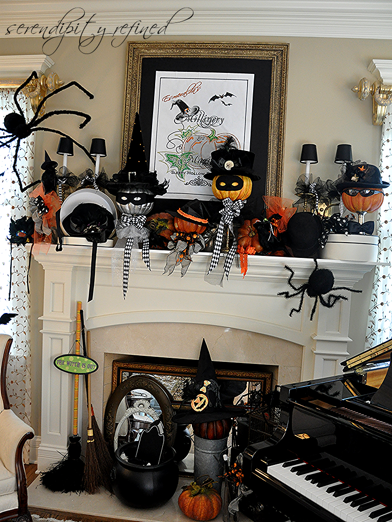 serendipity refined blog halloween mantel do you believe in magic - Halloween Mantle