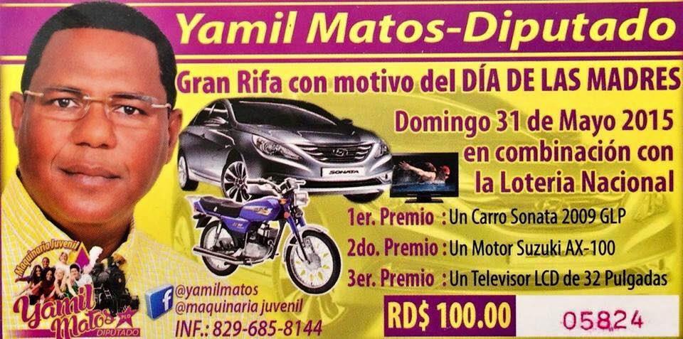 Publicidad Rifa Yamil Diputado
