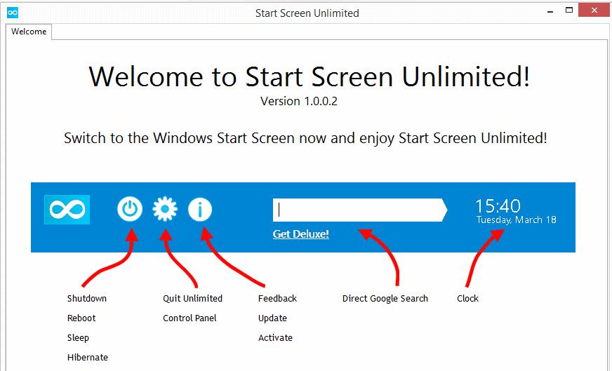 Download Start Screen Unlimited Lite 1.0.0.2 New Freeware