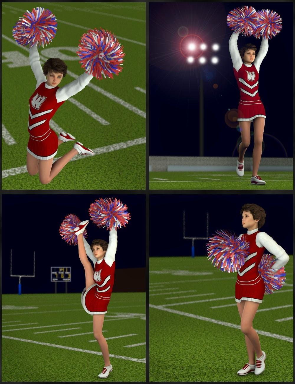 Cheerleader Pom Pom Poses
