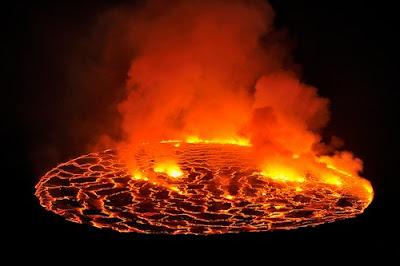 Expedicion al crater del volcan Nyiragongo