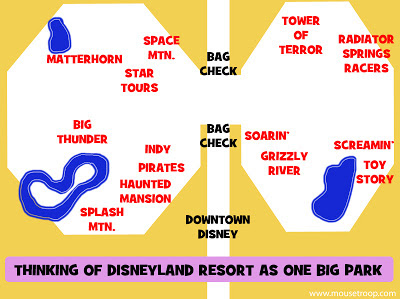 Disneyland Resort map DCA One Big Park locals Passholders