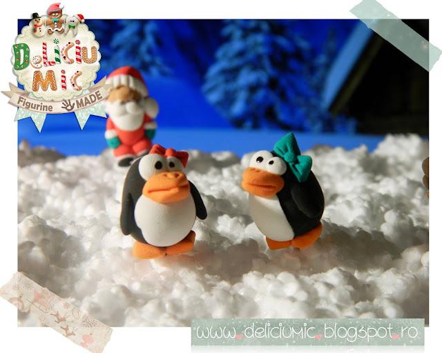 Cercei pinguin