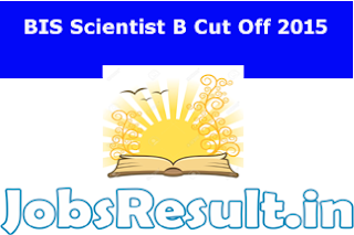BIS Scientist B Cut Off 2015