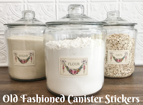 Old Fashioned Pantry Canister Stickers @