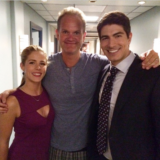 Brandon Routh, Emily Bett Rickards on Arrow