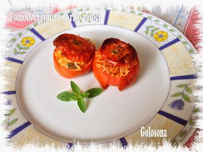 pomodori ripieni di riso veloci