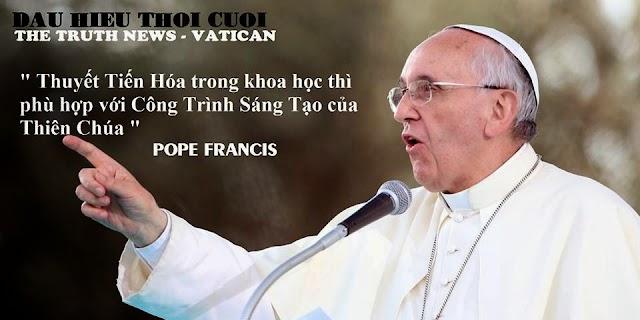 """Đức Giáo Hoàng Phanxicô nói mâu thuẩn với Kinh Thánh: Sự tiến hóa trong Khoa học """"là phù hợp"""""""