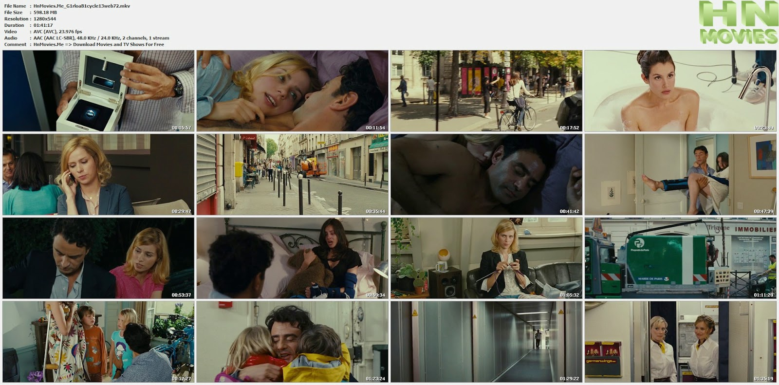 Girl on a Bicycle (2013) 720p WEB-DL 600MB