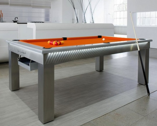 Dining table pool table dining table convertible for Table transformable