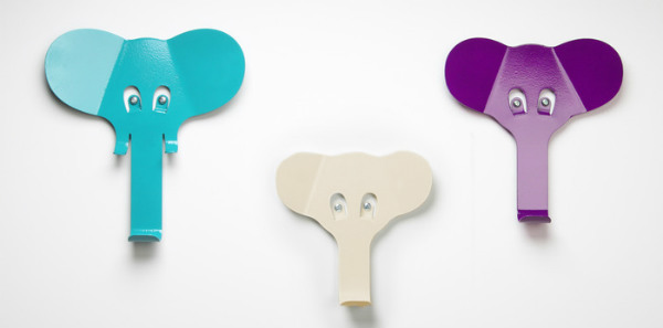 Cute Each elephant easily screws into your wall with the screws serving as their eyes Seeks funding at kickstarter