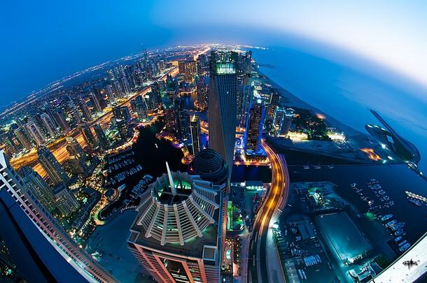 Dubai Marina Skyline.