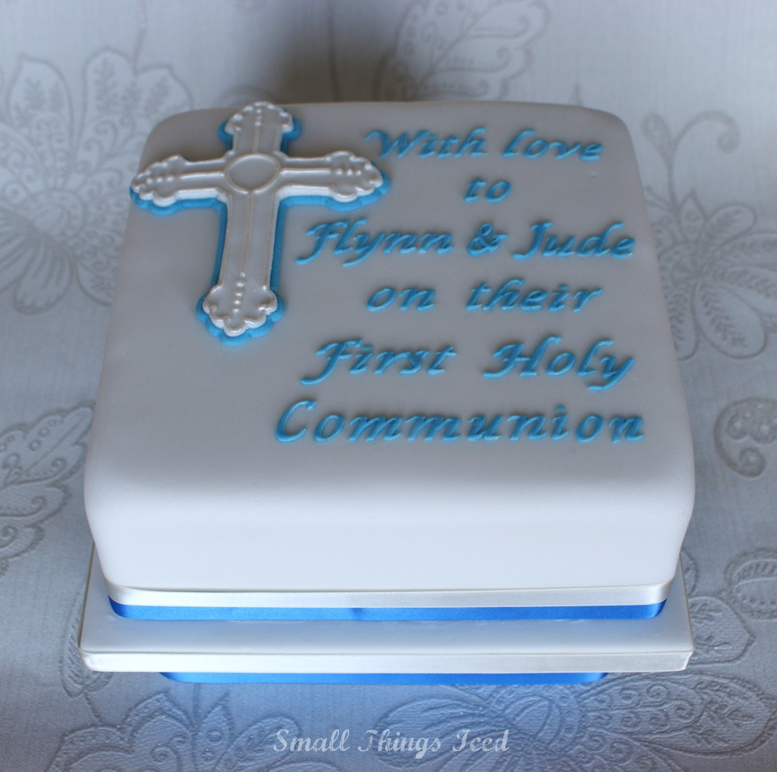 Small Things Iced First Holy Communion Cake