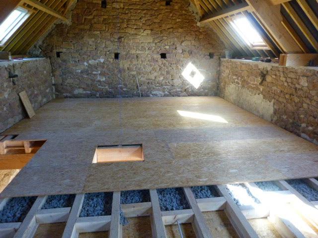 R novation cologique d 39 une grange on retourne notre plancher - Isolation phonique plancher bois ancien ...