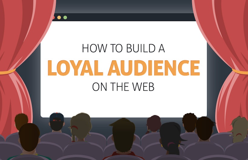 How to Build A Loyal Audience On The Web - #infographic #contentmarketing #socialmedia