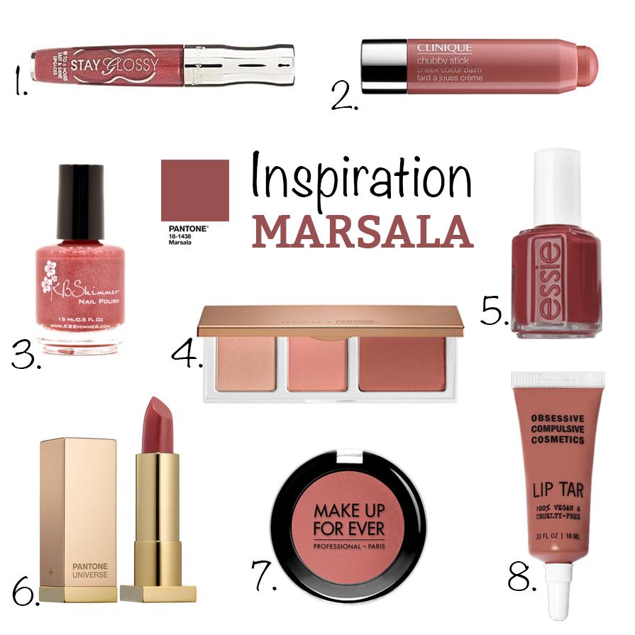 Marsala couleur de l'année 2015 Pantone inspiration maquillage makeup