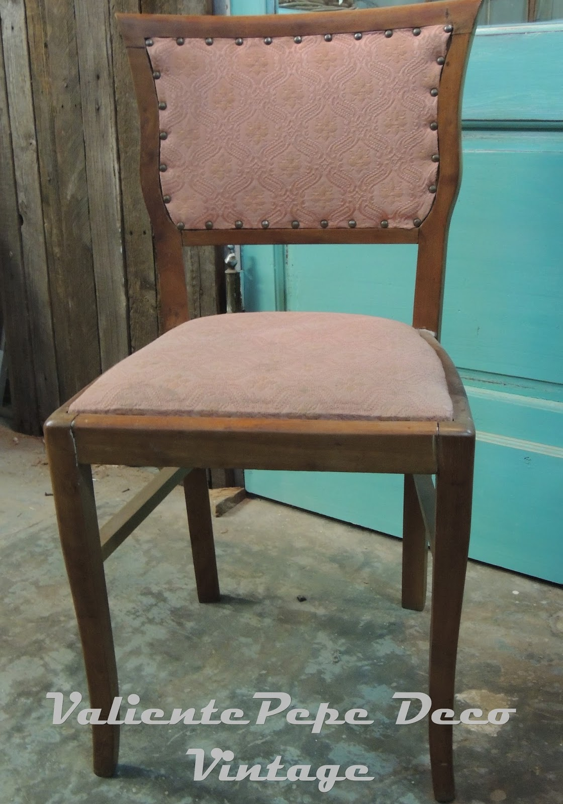 Juego de 6 antiguas sillas francesas tapizadas valiente pepe - Tapizado de sillas antiguas ...