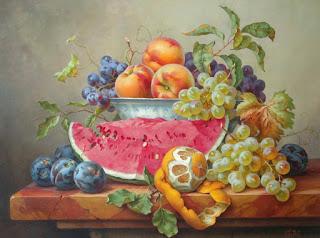 Bodegones Frutas Jarras Botellas