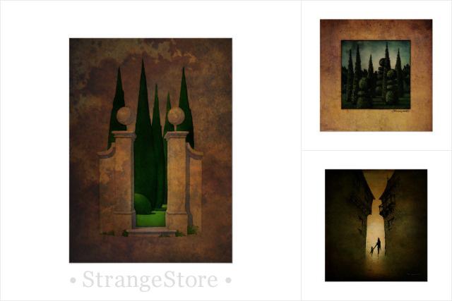 Paul Stickland Fine Art Prints - The Secret Garden, the secret garden, secret garden art,