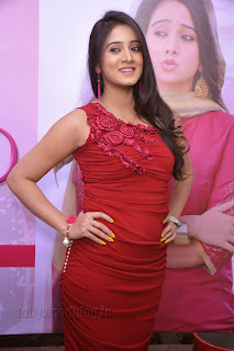 Harshika Pooncha latest Pictures in red 003.jpg
