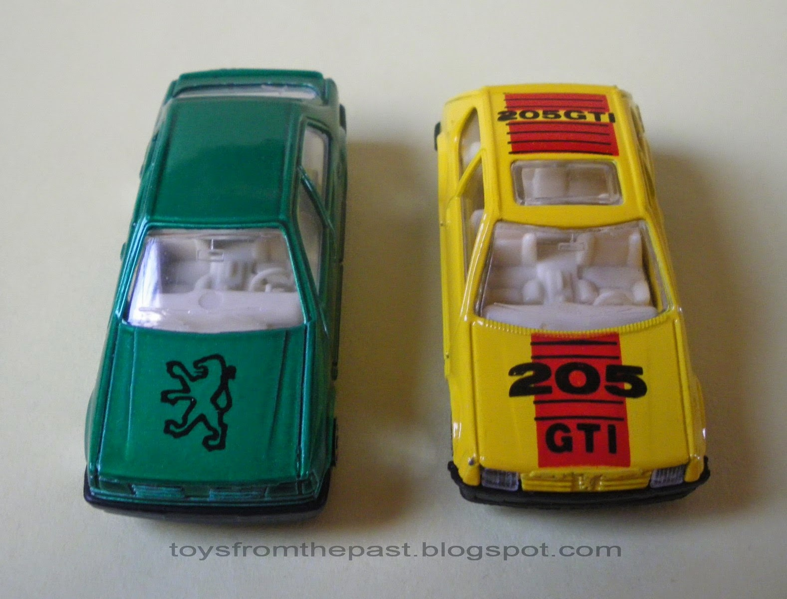 Toys from the Past: #483 MC TOY – PEUGEOT 205, 309, 405 TURBO and ...