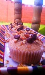 Almond Orange Confetti Cupcakes