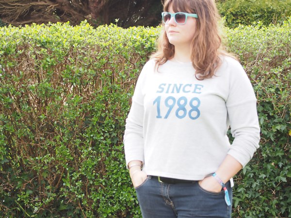 "DIY : Sweat ""since 1988"" thermocollée"