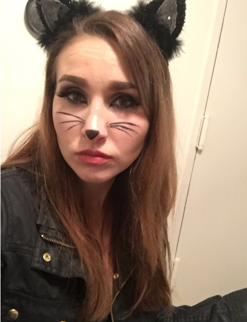 Halloween cat make up