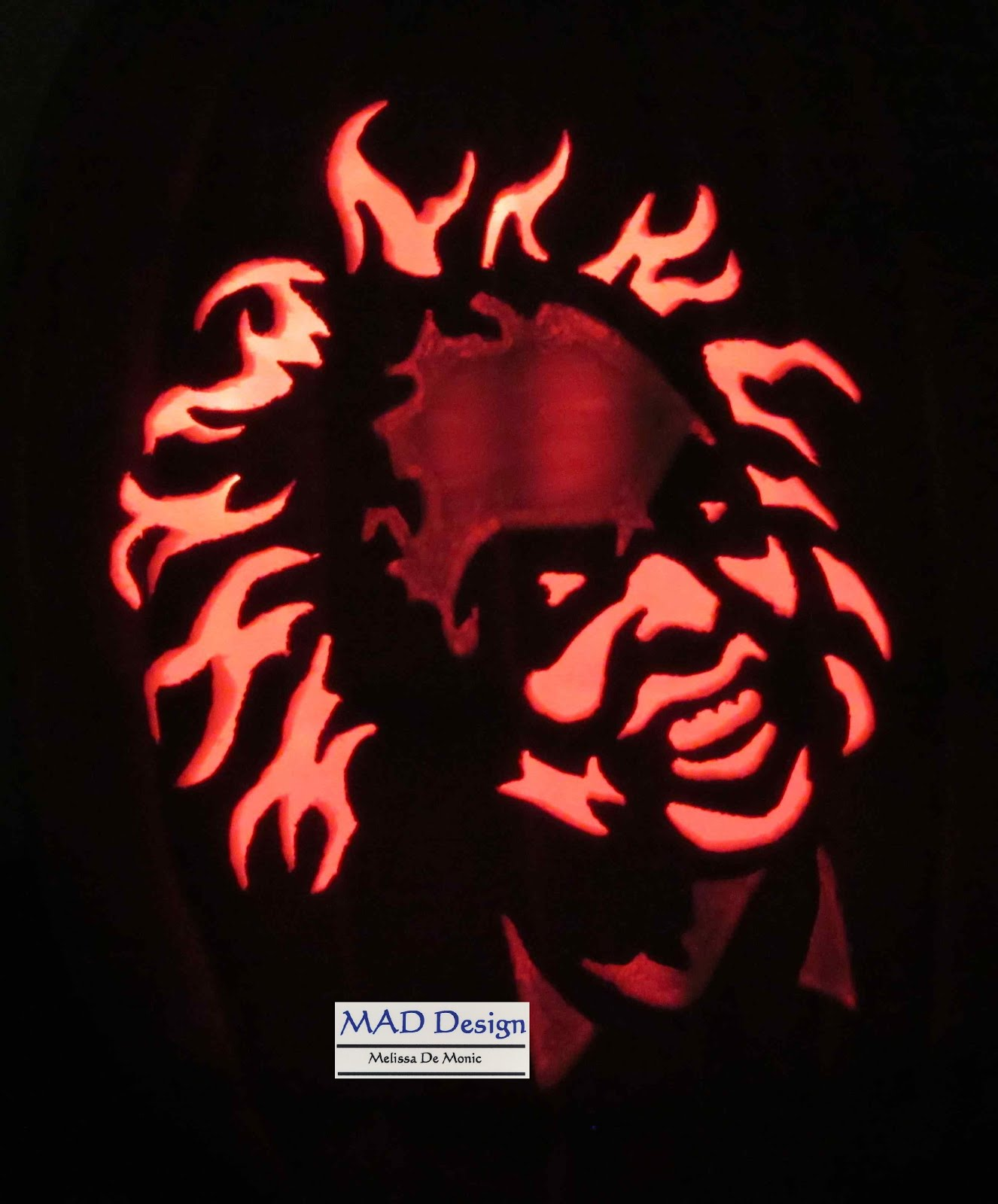 2015 2nd carved Halloween pumpkin