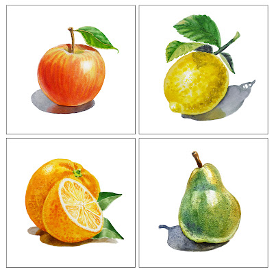 citrus fruits paintings