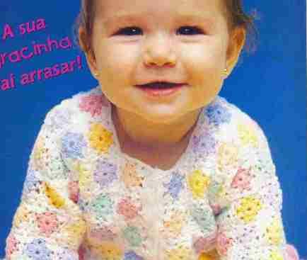 Chaleco de Bebé tejido a Crochet
