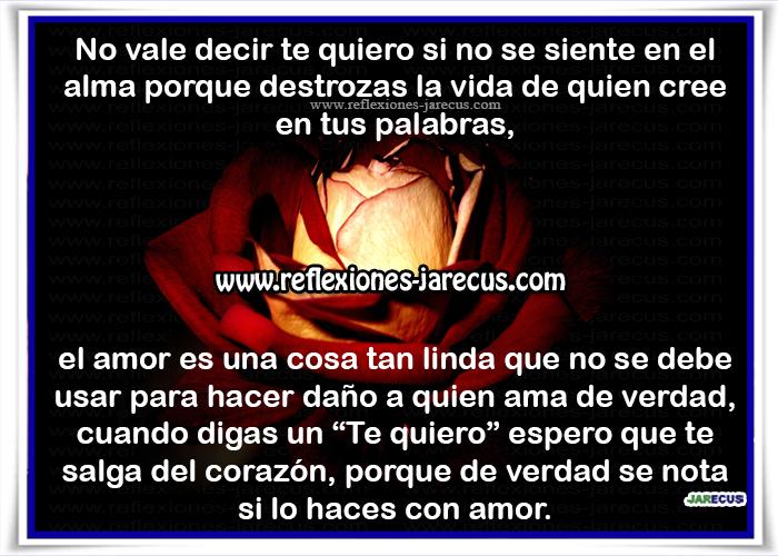 Reflexiones de amor, alma, corazón, daño