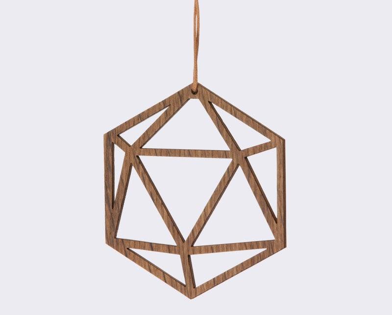 Adornos navideos de madera con un look nrdico y minimal para