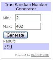 Quarto sorteado: Número 391