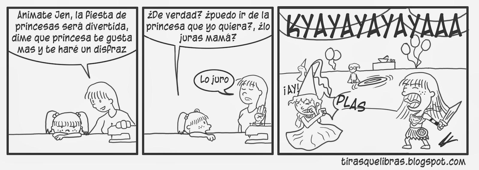 webcomic, Jen se disfraza de Xena en la fiesta de Halloween