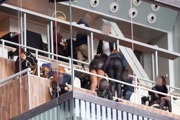 Irmã do Cristiano Ronaldo, Katia Aveiro, mostra as cuecas no Santiago Barnabéu