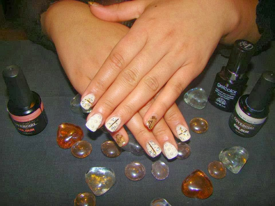 Acrylic Extension Gold and Silver Cocktail  nails gel-color Manicure
