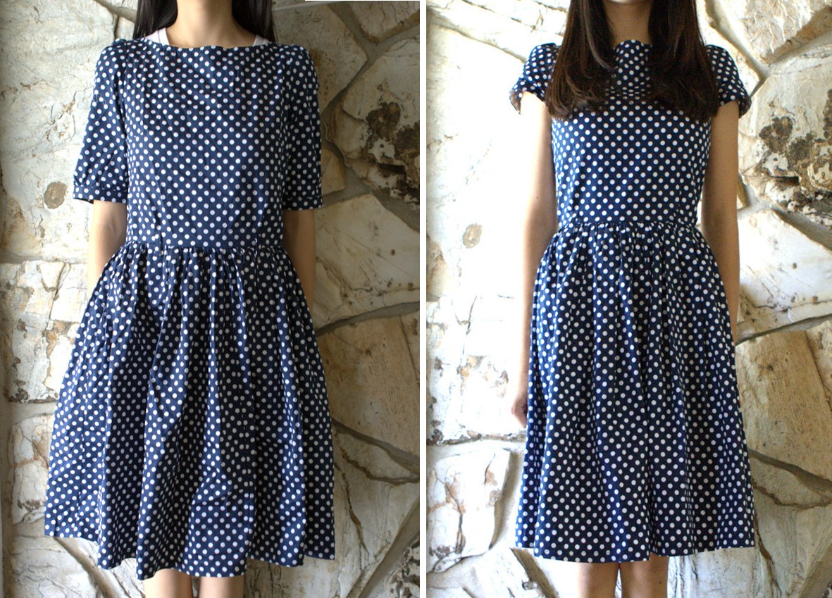 Diy update tailor a vintage style dress life is beautiful - How to reuse old clothes well tailored ideas ...