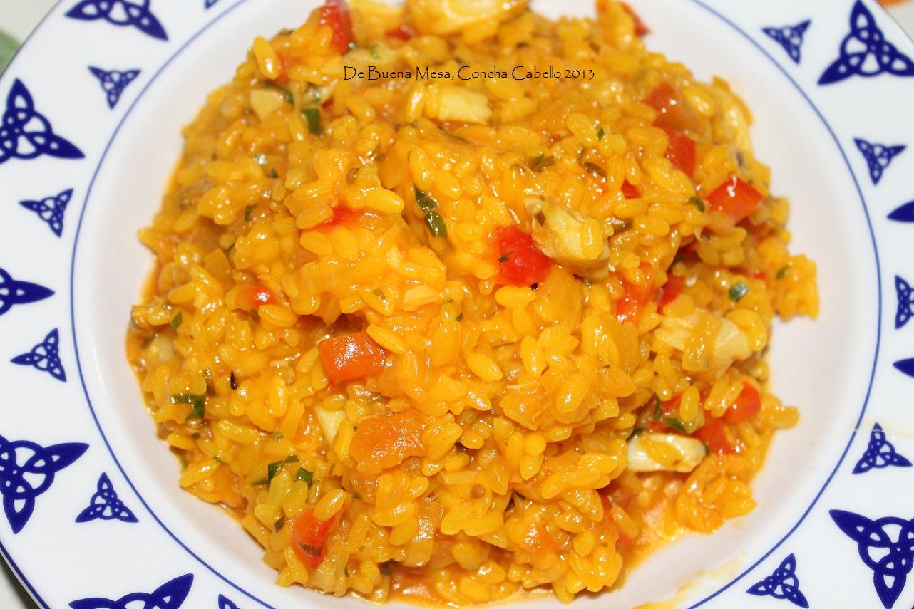 De buena mesa arroz con bacalao - Arroz con bacalao desmigado ...