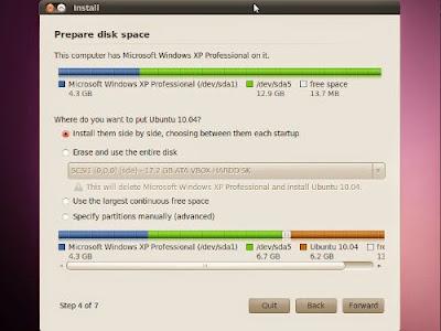 cara instal ubuntu pada laptop/pc