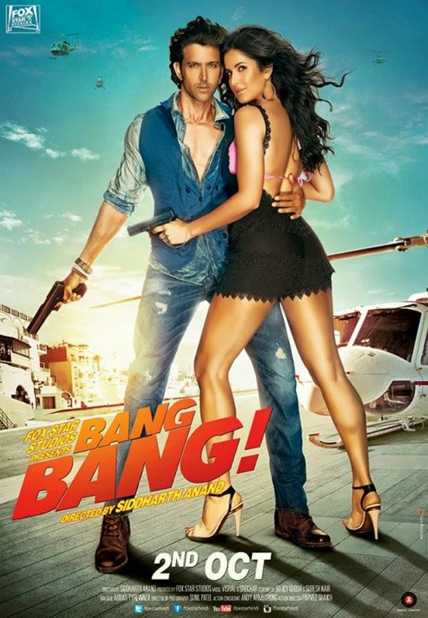 Katrina and Hrithik Sizzle On The New Third Poster of Bang Bang