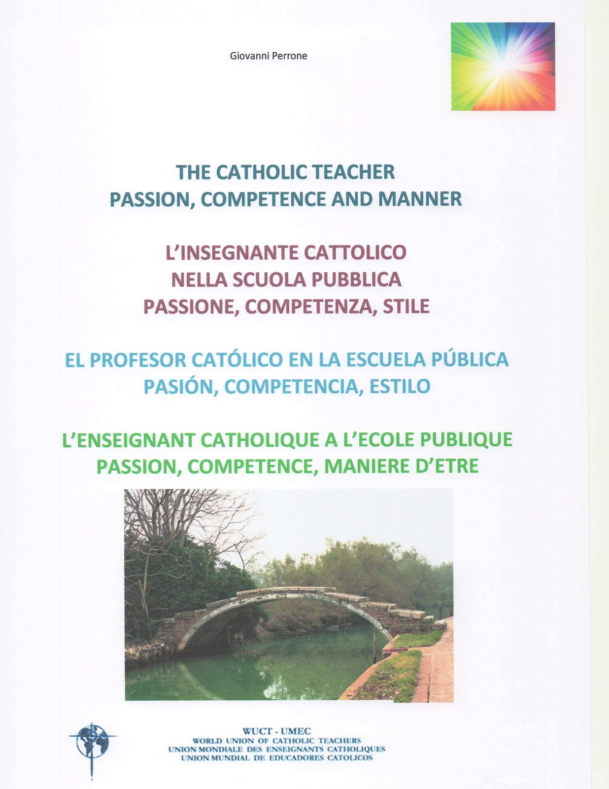 INSEGNANTE CATTOLICO - CATHOLIC TEACHER