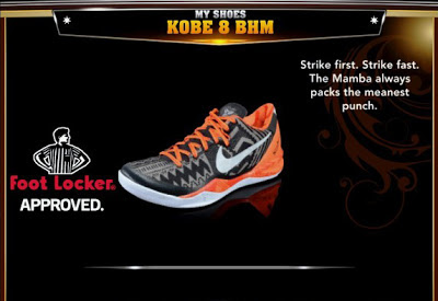 NBA 2K13 Rosters Kobe 8 BHM Colorways Shoes