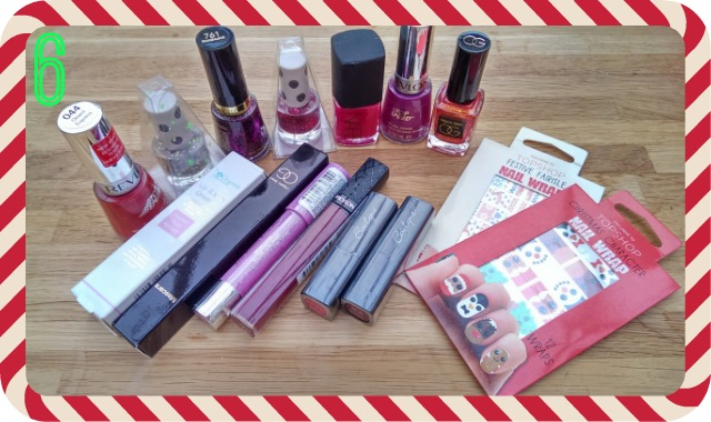 Prize 6 - an assortment of makeup and nail polish