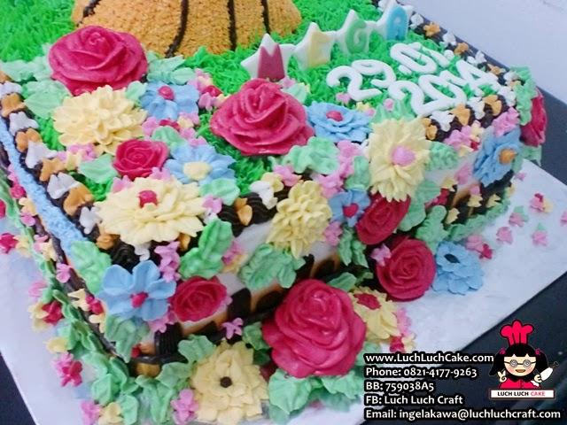 Kue tart valentine bunga cantik
