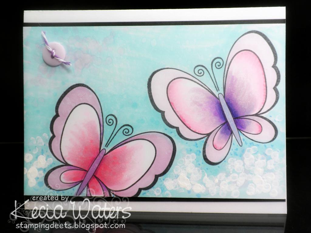 Dare2BArtzy, Kecia Waters, Copic markers, butterflies